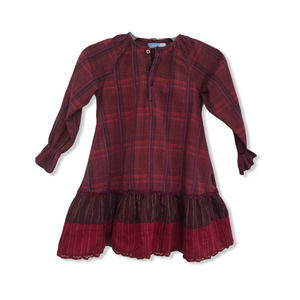 Jean Bourget Tiny Maroon Dress Sz 4T